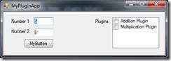 MyPluginApp with loaded plugins
